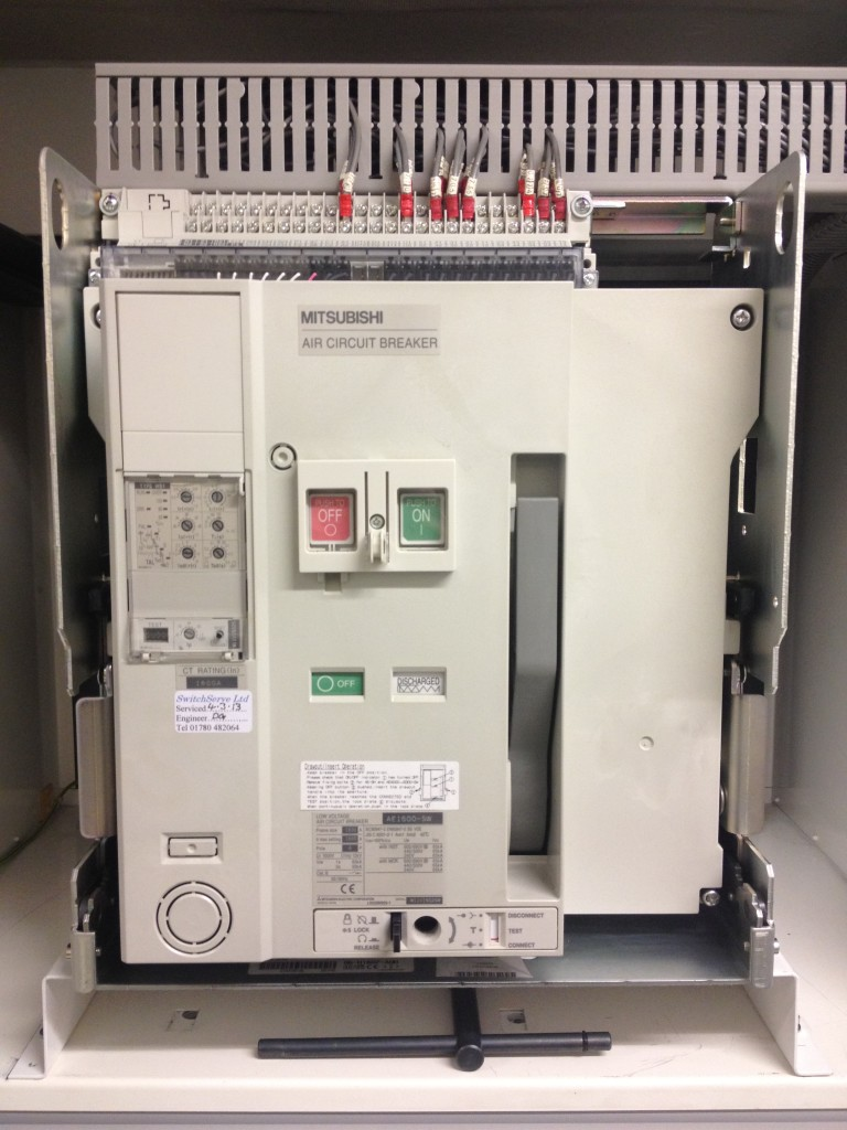 Mitsubishi AE-SW air circuit breaker service upgrade